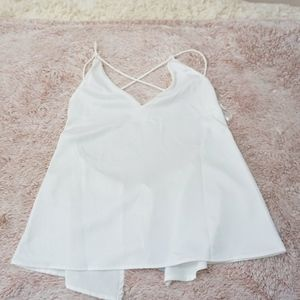 Missguided White Cross Back Cami